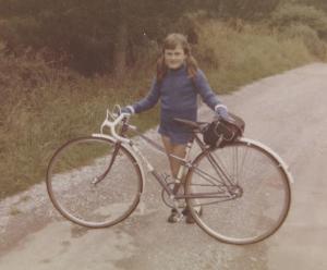 Anne and bike