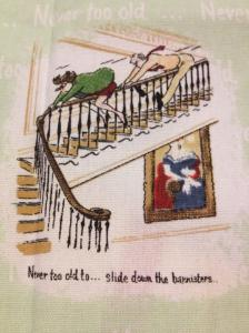 Never too old - bannisters