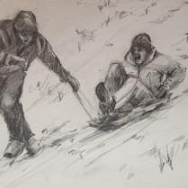 My boys sledging