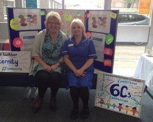Gill Phillips with Jane Pollock, a.k.a @midwife_jane who invited her along to the Open Day
