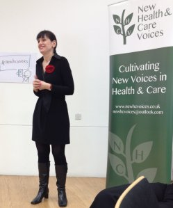 Helen Bevan speaking at the New Health Care voices event in Birmingham