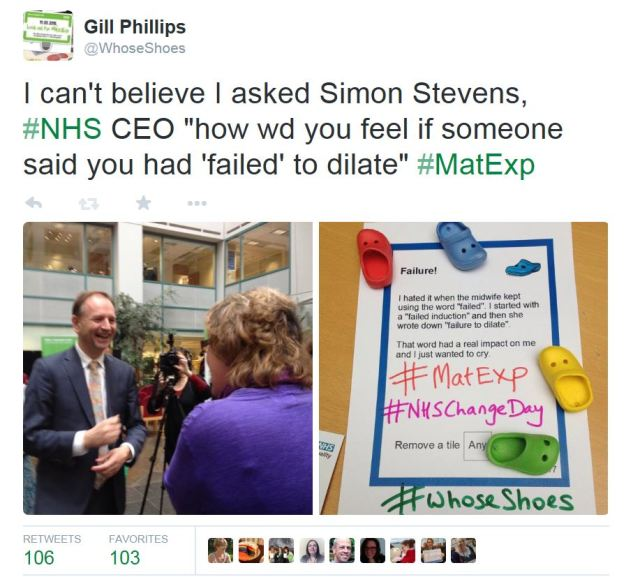 Gill and Simon Stevens and card