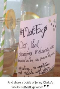 Jenny's bottle of matexp wine