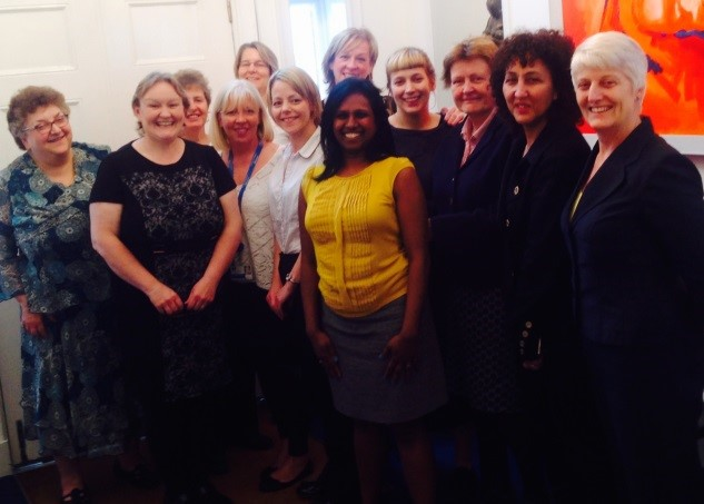 Louise and the RCM Midwifery  Directorate team
