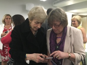 Gill helps Baroness Cumberlege to tweet!
